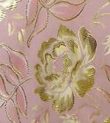 METALLIC PEONY FLOWER MOTIF PALE LILAC PINK  Asian Brocade Silk Fabric GP-611