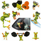 1 /5 /10 3D Funny Frog Graphics Car Window Sticker Wall Bathroom Toilet Decals