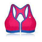 Shock Absorber Active Zip Sport BH Laufen Fitness Support Bustier Bra Top Rosa