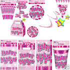 New Girls Happy Birthday Pink Party Tableware Party decoration Accessories