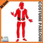New Christmas Santa Skin Suit  Fancy Dress Xmas Costume All Sizes