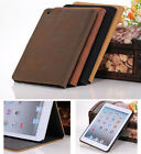 Vintage Antique Solid Leather Smart Flip Retro Case Cover For iPad Mini 1/2/3/4