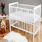 Baby Cot Bed & Foam Mattresses Toddler Nursery Furniture 120x60 White & Natural