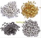 2015 Hot 1.5mm/2mm Silver/Gold/Black/Bronze Tube Crimp End Beads 500/1000 Pcs