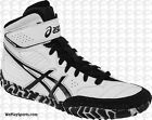 Asics Aggressor 2 MEN'S Wrestling Shoes, White/Black  J300Y-0190  **IN STOCK**