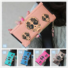 Skull Women's wallet purse lady burse girl notecase billfold handbag