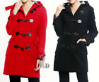 AU STOCK WOMENS WOOLEN WINDBREAKER COAT WINTER JACKET TRENCH PARKA OUTWEAR T137