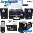 NEW Jensen AM FM Radio 3-Speed Turntable CD Cassette Record Player Stereo System