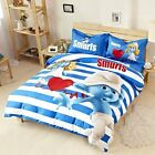 *** Love Smurfs Queen Bed Quilt Cover Set - Flat or Fitted Sheet ***