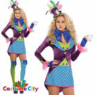 Womens Ladies Sexy Pretty Mad Hatter Costume Alice In Wonderland Fancy Dress
