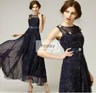 Womens Backless Galaxy Printed Stars Long Swing Maxi Cocktail Party Dress NC0024