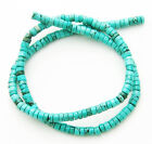 """Turquoise 5mm Rondelle HEISHI Spacers Natural Gemstone Loose Beads 16"""" Strand"""