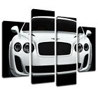 MCar077 Bentley Close Up Black Canvas Art Multi Panel Split Picture Print