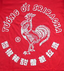 "NEW MENS ""SRIRACHA HOT CHILI SAUCE"" T SHIRT, Rooster Logo Red Tee, Various Sizes"