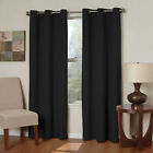 NEW 2 PANEL SOLID LINED THERMAL BLACKOUT GROMMET WINDOW CURTAIN DRAPE NEW JK64 фото
