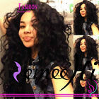 "14""~22"" Full/ Front Lace Wigs 100% India Remy Human Hair Malaysia Wave"
