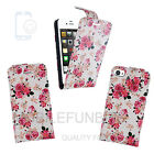 Flip Wallet Leather Case Cover For Apple iPhone 4S 5S 5C + Free Screen Protector