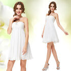 Ever Pretty White Short Cocktail Simple Chiffon Party Bridesmaid Dress 05120