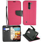 For LG Volt 2  LS751 Premium Wallet Pouch Case PU Leather Stand