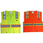 High Visibility Reflective Safety Vest Yellow/Orange S/M