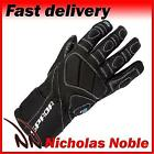 SPADA BURNOUT Black FULL LEATHER SPORTS MOTORCYCLE GLOVES
