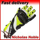 SPADA CORSA RD Black Flo Yellow ARMOURED LEATHER SPORTS RACING MOTORCYCLE GLOVES