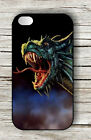 DRAGON GREEN HEAD FURIOUS CASE FOR iPHONE 4 , 5 , 5c , 6 -tfm3Z