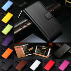 Luxury Genuine Leather Wallet Stand Flip Card Case Cover For HTC Series
