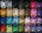 100 gr METALLIC CROCHET THREAD THREAD 9 PLY THICKER THAN US 10  VARIOUS COLORS