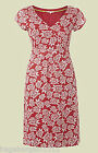 WHITE STUFF RED TURTLE LENA PRINTED CASUAL DAY TEA DRESS SUMMER SUN SIZE 8-18