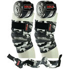 Weight Lifting Knee Bandage Wrist Support Wraps Fitness Training Straps Pair Set