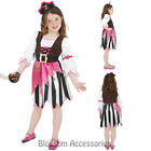 CK472 Pink Pirate Buccaneer Fancy Dress Up Child Girl Book Week Costume Outfit
