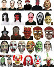 Men's Halloween Scary zombie latex face masks Horror Mask Fancy dress Accessory