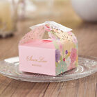 Personalized Rose Wedding Favour Candy Boxes Party Gift Boxes With White Ribbons