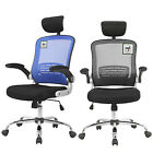 Adjustable Chrome Executive Office Chair Computer Desk Game Mesh Net Seat Fabric