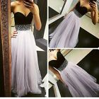 New Womens Chiffon Bridesmaid Formal Gown Ball Party Cocktail Evening Prom Dress
