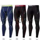 Mens Lightweight Baselayer Compression Full Length Gym Pants Skins Tights Sports