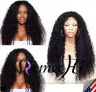 Brizil curly 100% Brizilian remy human hair full/front lace wig 180% density