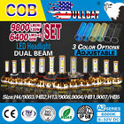 120W 9800LM COB LED Headlight Kit H4 9003 9004 9007 9008 H13 HB1 HB2 HB5 Bulb