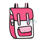 Fashion 3d Jump Style 2d Drawing From Paper Cartoon Bag Comic Backpack Bag