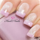 Nail Art Wraps Water Transfers Decals Y305 White Feather Salon Quality Wedding