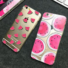 Watermelon Transparent Soft TPU Phone Case Cover For iPhone 5 5S SE 6 6S & Plus