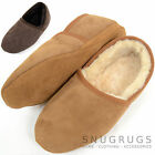 Mens Genuine 100% Full Sheepskin Slipper with Soft Sole