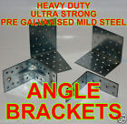 Heavy Duty Galvanised Angle Brackets DIFFERENT SIZES AND QUANTITY