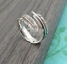 925 Sterling Silver Feather Cuff Finger Open Ring, Usa Size 6 -9