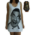 Mr Bean Vest Tank-Top Singlet (T-Shirt Dress) Sizes S M L XL