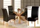 """OAK AND GLASS 1200mm 47"""" ROUND DINING TABLE WITH FOUR CHAIRS IN VARIOUS COLOURS"""
