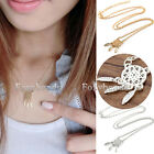 Womens Dreamcatcher Bohemian Leaf Feather Tassel Gold Silver Necklace Jewelry