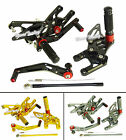 CNC Adjustable Rearset Rear Sets Foot Rest Pegs Fit 2008-2015 HONDA CBR 1000 RR
