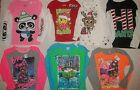 NEW JUSTICE GIRLS SIZE 8 10 12 14 16 18 20 HOLIDAY T-SHIRT/TOP 8 STYLES PICK ONE